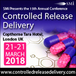 15th annual Controlled Release Delivery, DATE: 21-22 March 2018, VENUE: Copthorne Tara Hotel, London, UK