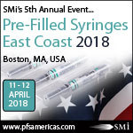Pre-Filled Syringes East Coast, 11th and 12th April 2018 Sheraton Boston Hotel, Boston, MA, USA