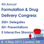 4th Annual Formulation & Drug Delivery Congress, 8-9 May, 2018, London, UK