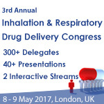3rd Annual Inhalation & Respiratory Drug Delivery Congress, 8-9 May, 2018, London, UK