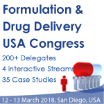 Formulation & Drug Delivery USA Congress, 12-13 March 2018, San Diego, USA
