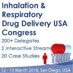 Inhalation & Respiratory Drug Delivery USA Congress, 12-13 March 2018, San Diego, USA
